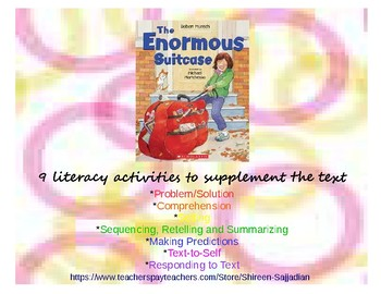 The Enormous Suitcase by Robert Munsch Reading Comprehension Activities (K-2)
