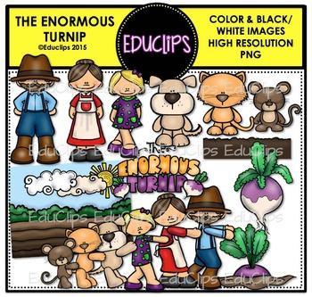 The Enormous Turnip Clip Art Bundle {Educlips Clipart}
