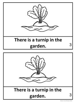 The Enormous Turnip Reader ~ Simplified for Young Learners