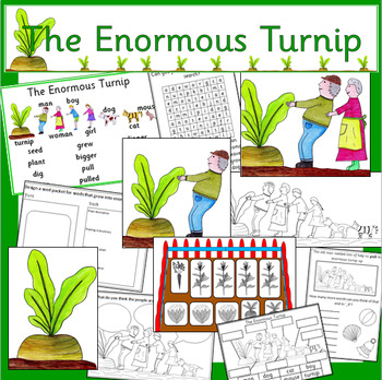 The Enormous Turnip book study story pack