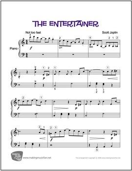 The Entertainer (Joplin) | Sheet Music for Easy Piano (Digital Print)