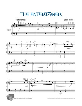 The Entertainer | Sheet Music for Piano - Play and Learn™ Series