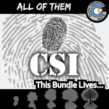 CSI -- ALL OF THEM -- Grades (3-12) - 45 Investigations Bundle