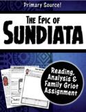 The Epic of Sundiata Close Reading, Graphic Organizer & Family Griot Assignment
