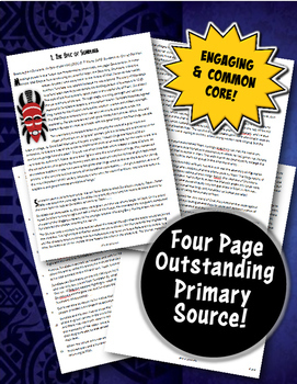 The Epic of Sundiata Close Reading, Graphic Organizer & Family Griot Assignment