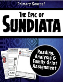 The Epic of Sundiata Close Reading, Graphic Organizer & Fa