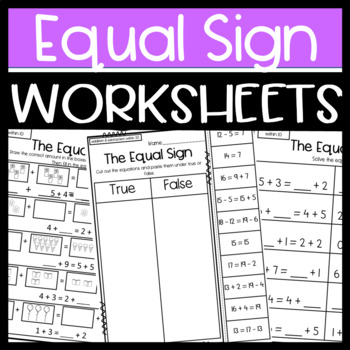 Balancing Equations Worksheets Addition And Subtraction | TpT