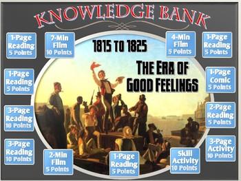 The Era of Good Feelings (1815 to 1824) Digital Knowledge Bank