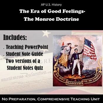 The Era of Good Feelings - The Monroe Doctrine