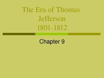 The Era of Jefferson