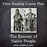 The Erasure of Native People: Close Reading