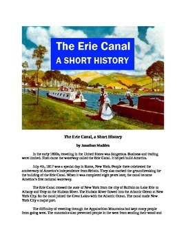 The Erie Canal - A Short History