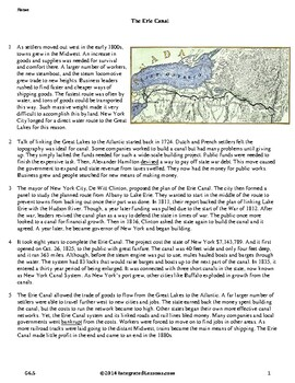 The Erie Canal - Grade 6