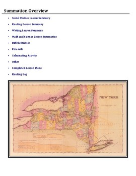 The Erie Canal (Integrated Thematic Unit Plan)