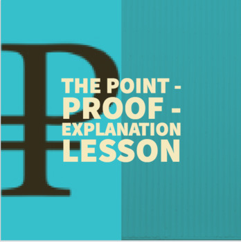 Writing 101: The Point-Proof-Explanation Method