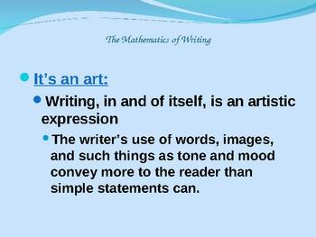 The Essay Formula: Writing as Mathematics
