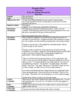 The Essay Writing Unit, Activities and Handouts