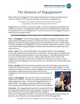 The Essence of Engagement - A Mini Lesson for Faculty and Staff