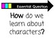 The Essential Questions posters for Benchmark advance First grade