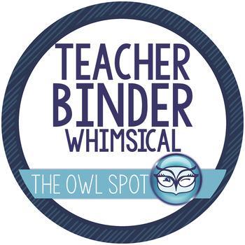 The Essential Teacher Binder - Black and White Whimsical theme