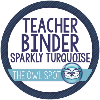 The Essential Teacher Binder - Sparkly Turquoise