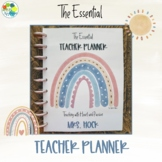 The Essential Teacher Planner - Boho Rainbow
