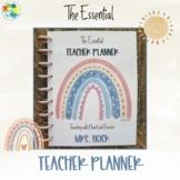 The Essential Teacher Planner - Boho Rainbow