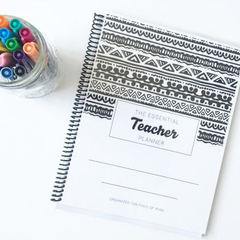 The Essential Teacher Planner- Tribal Print