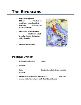 The Etruscans (History / Social Studies)