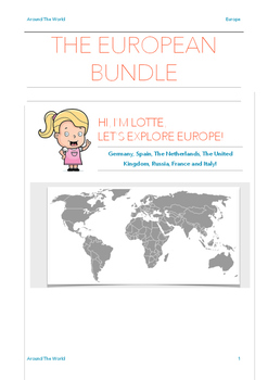 The European Bundle - 7 Countries in 1 Package! UK, FR, NL, DE, SP, IT, RUS.