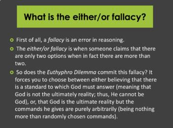 The Euthyphro Dilemma PowerPoint