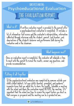 The Evaluation Report: Understanding Psychoeducational Evaluation