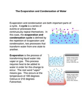 The Evaporation and Condensation Cycle of Water
