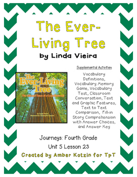 The Ever-Living Tree Activities 4th Grade Journeys Unit 5, Lesson 23