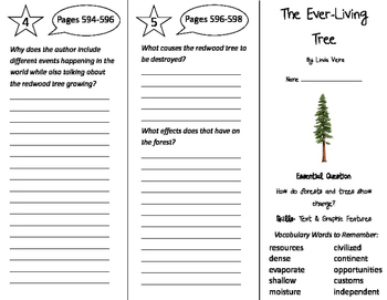 The Ever-Living Tree Trifold - Journeys 4th Grade Unit 5 Week 3 (2011)