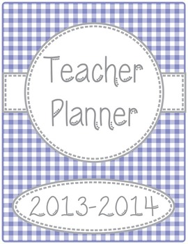 The Everything Editable Teacher Planner/Organizer-Gingham Print