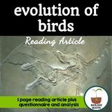 The Evolution of Birds (Article- Evidence for Evolution)