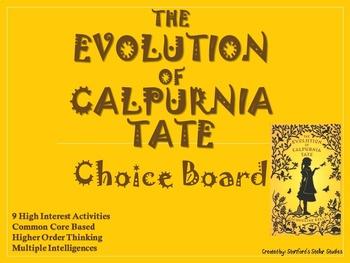 The Evolution of Calpurnia Tate Choice Board Tic Tac Toe Novel Activities