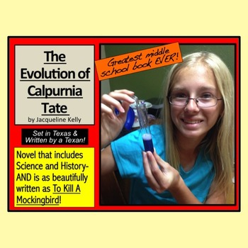 The Evolution of Calpurnia Tate Unit w/ 12 lesson plans, PPT, and MORE! No prep
