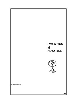 The Evolution of Notation