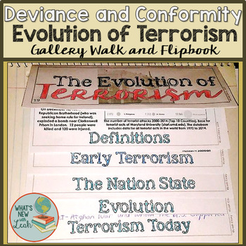 The Evolution of Terrorism Gallery Walk and Flipbook