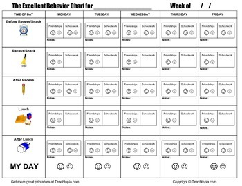 An Excellent Behavior Chart, Simply the best elementary Behavior Chart ever made