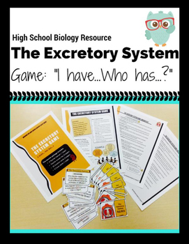 Excretory System-I have ..., Who has...? Game (Grades 9-12)