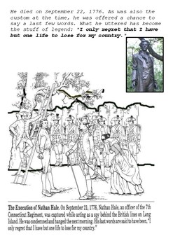The Execution of Nathan Hale Handout with activities