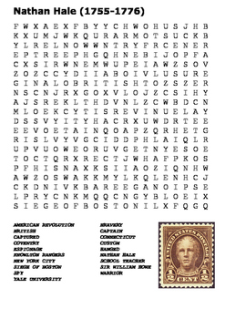The Execution of Nathan Hale Word Search