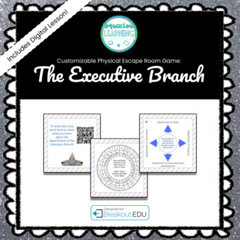 The Executive Branch Customizable Escape Room / Breakout Game