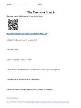 The Executive Branch Webquest