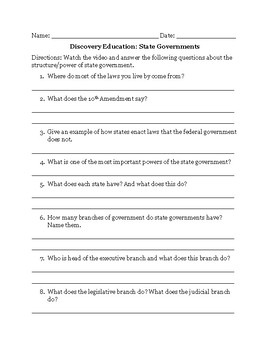 Discovery Education: State Governments