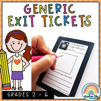 The Exit Ticket Collection - Generic #endoftermdollardeals