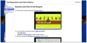 The Expansion and Fall of Rome Adventure Quest w/ Common Core Standards